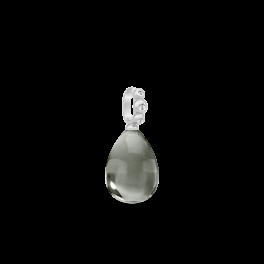 BLOOM sølv vedhæng, varm grå krystal-20