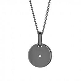 pulse diamont halskæde sort rhodineret-20