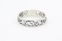 Sølv ring, med mønster-20