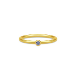 FINESSE forgyldt ring, iolit-20