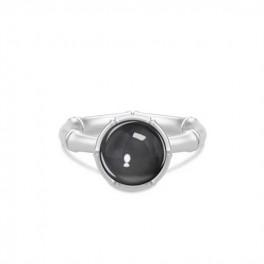 BAMBOO Sølv ring med hæmatitkvarts-20