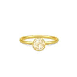 COCKTAIL forgyldt ring, lemon-20