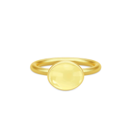 LOLA forgyldt ring, gul-20