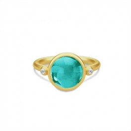 PRIME ring med smaragdgrøn krystal-20