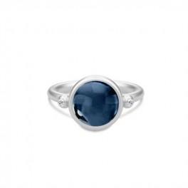 PRIME ring med safirblå krystal, sølv-20