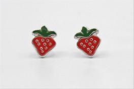 Jordbær sølv ørestikker-20