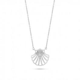 Shell sølv halskæde-20
