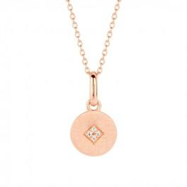 Shine halskæde 45 cm rosa forgyldt-20