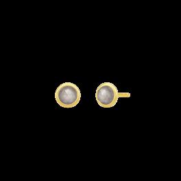 MOON ørestikker, grå månesten-20