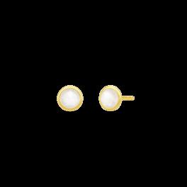 MOON ørestikker, hvid månesten-20