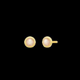 MOON ørestikker, peach månesten-20