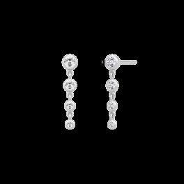 FINA sølv ørehængere, 4 zirk.-20