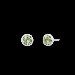 COCKTAIL sølv ørestikker, grøn-20