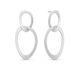 AVA sølv ørestikker, to ringe-20