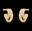 Halo øreringe dobbelt sidet