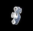 FUSION ring midterstykke hvidguld med blå safirer