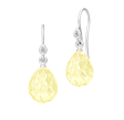 BALLERINA ørehængere lemon krystal sølv